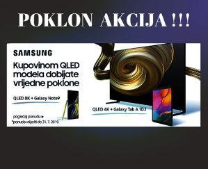 "Samsung 75"" QLED Q70R TV QE75Q70RATXXH, POKLON TABLET"