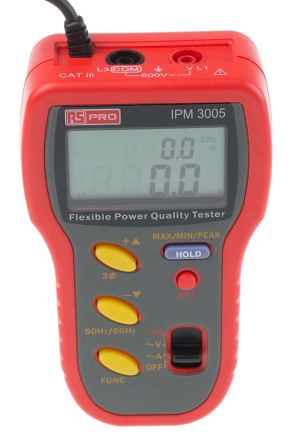 RS PRO Flexible AC Power Quality Tester IPM3005