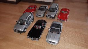 Mercedes kolekcija 1:18 Burago Maisto
