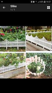 Ograda za vrt pvc 61x33 cm