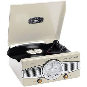Gramofon retro LENCO TT-28 C, sa zvučnicima, FM radio