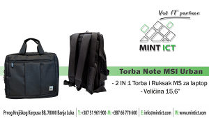 2in1 Torba/Ruksak Note MS Urban