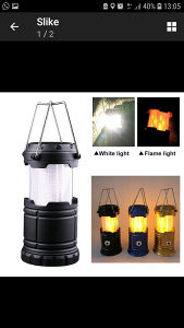 Solarna led lampa + Punjač+Usb