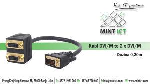 Kabl DVI/M na 2xDVI/M