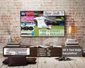 Super IPTV 5 E MJESEC 48H TEST! 1500+kanala + Videoteka
