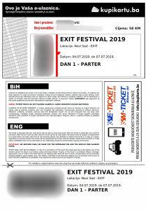 karta za The Cure - EXIT prvi dan 04.07.2019. Novi Sad