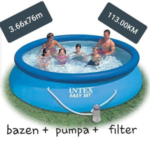 Bazen 366x76cm sa filterom i pumpom