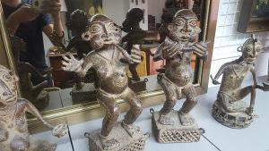 Skulpture Bronza Kraljevstvo Benini Nigerija