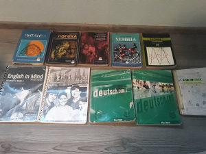 Knjige za razne razrede gimnazije srednja skola
