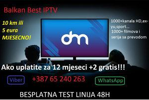 Balkan Best IPTV HD kanali videoteka TEST 48h