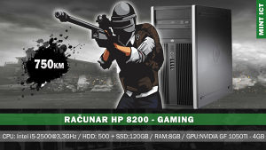 Računar HP Gaming /i5/500GB+SSD120GB/8GB/1050TI-4G