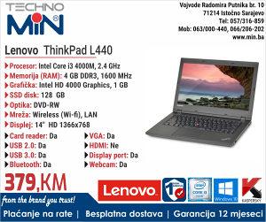 """Lenovo ThinkPad L440 14"""" i3 4000M 2.4/8/128 SSD/ WEBCAM"""