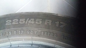 Continental ljetne gume 225/45R17