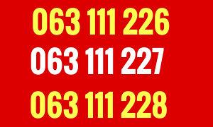 Eronet broj / tri broja/ 063 111