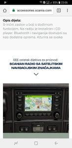 SCANIA Navigacija/Radio/Cd Player