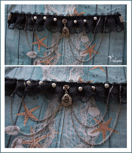 Ručno pravljena čoker ogrlica