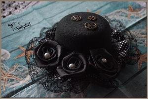 Fascinator crne boje steampunk