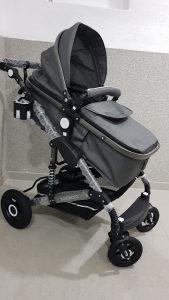Djecija kolica za bebe sa Auto sjedalicom 3 u 1 Novo