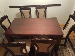 Stol i 6 stolica