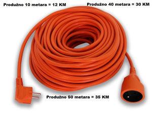 Produžni kabal 10, 40 i 50 metara (3X1,5mm)