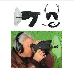 Parabolički mikrofon sa durbinom 8x snima do 100 m