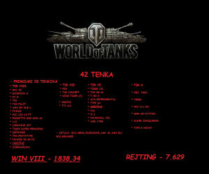 WORLD OF TANKS - WOT RAČUN !!!