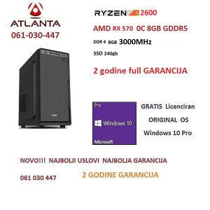 Ryzen 5 2600 RX 570 8GB 240GB SSD DDR4 8GB AMD