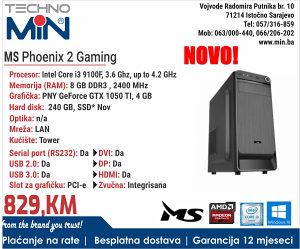 MS Phoenix 2, i3 9100F 3.6/8/240SSD/Tower