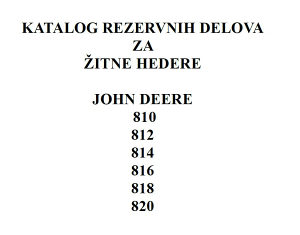 John Deere 810-812-814-816-818-820  hederi - Katalog