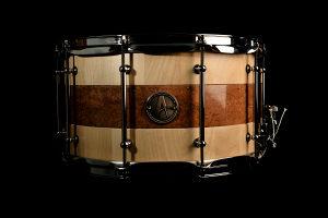 """AURA handmade snare 14x8"""" - javor/mermer"""