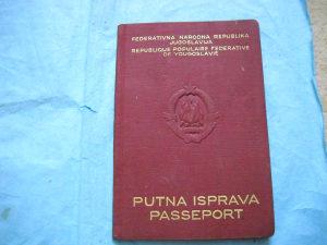 Pasoš FNR Jugoslavija 1956. godina