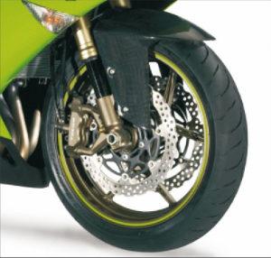 Fluorescentne zelene naljepnice za felge + alat