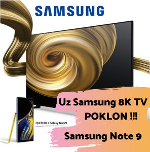 """Samsung 8K QLED 65"""" Q90R TV QE65Q90RATXXH Note 9 POKLON"""
