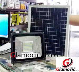 SOLARNI REFLEKTOR LED 20W i 50W+ SOLARNA PLOČA RASVJETA