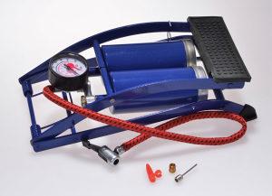 Nožna pumpa za gume sa Dva cilindra i Manometrom