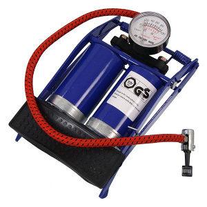 Nožna pumpa za gume sa 2 cilindra i manometrom