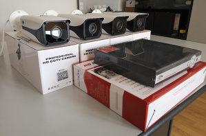 Video nadzor sa ugradnjom 4 kamere full HD 1080p 2 mp