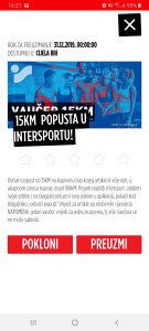 Intersport 15 KM vaučer