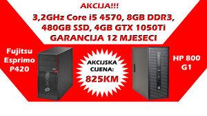 HP/Fujitsu Core i5 4570 SSD GTX 1050Ti