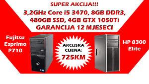 HP/Fujitsu Core i5 3470 SSD GTX 1050Ti