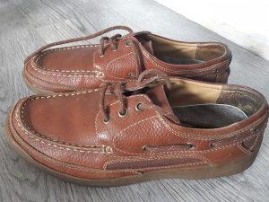 Cipele muške 42,5 NUNECH,KOZA,smede