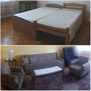 Kauč, dvije fotelje, dva kreveta + madraci