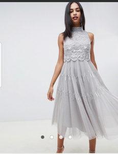 Svečana ASOS haljina sa šljokicama