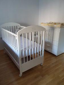 Krevetić sa dušekom za bebu