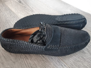 Cipele muške 43 ITALY,mocasine,koza