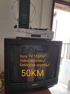 TV SONY VIDEO RECORDER ANTENA