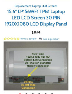 15.6 LED NORMAL 30pin