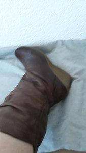 Zenske cizme kozne smede puna peta 39 broj