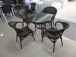 Ugostiteljski stol aluminij/ratan 1219