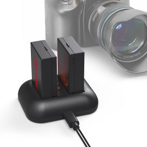 Photoolex baterija 2 Pack 1200mAh LP-E8, Canon